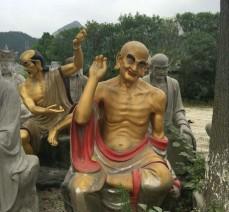 现货供应石雕罗汉 十八罗汉雕像石材雕刻佛像雕刻定做